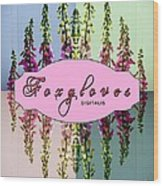Foxgloves Times 4 Wood Print by Margaret Newcomb