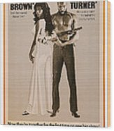 Foxy Brown On Combo Poster With Truck Wood Print