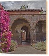 Fr. Serra Church Entrance Wood Print