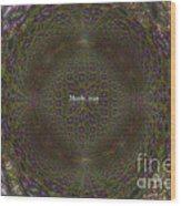 Fraclilac Wood Print