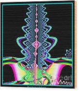Fractal 21 Jeweled Plume Wood Print