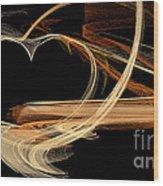 Fractal 24 Es Heart Wood Print
