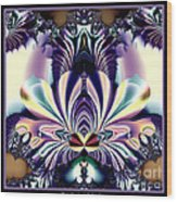 Fractal 26 Jeweled Tone Lotus Flower Wood Print