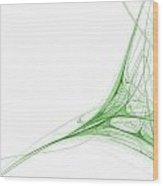 Fractal 41 Green Wood Print