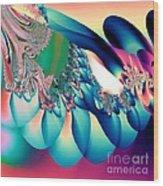 Fractal Abstract 001 Wood Print
