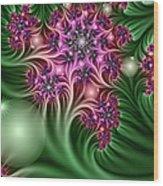 Fractal Abstract Dreamy Garden Wood Print