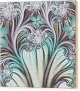 Fractal Abstract Fantasy Flower Garden 2 Wood Print