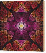 Fractal - Aztec - The All Seeing Eye Wood Print