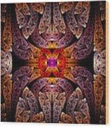 Fractal - Aztec - The Aztecs Wood Print