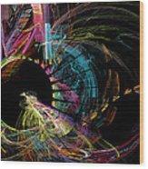 Fractal - Black Hole Wood Print