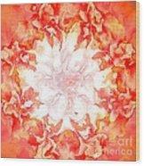 Fractal Carnation Wood Print