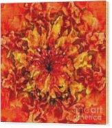 Fractal Chrysanthemum Wood Print