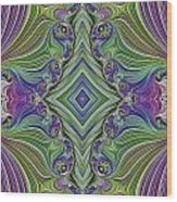 Fractal Cross Wood Print