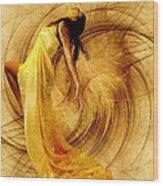Fractal Dance Of Joy Wood Print by Gun Legler