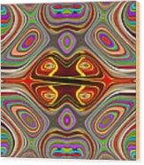 Fractal Displacement Wood Print