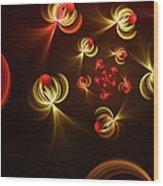Fractal Dream Catcher Wood Print