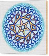 Fractal Escheresque Winter Mandala 1 Wood Print