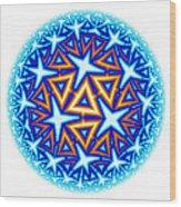 Fractal Escheresque Winter Mandala 10 Wood Print