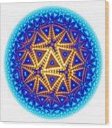 Fractal Escheresque Winter Mandala 6 Wood Print