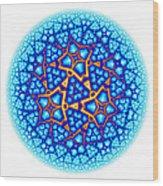 Fractal Escheresque Winter Mandala 8 Wood Print