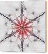 Fractal Flake Wood Print