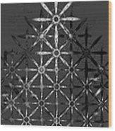 Fractal Flakes Wood Print
