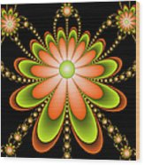 Fractal Floral Decorations Wood Print