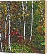 Fractal Forest Wood Print