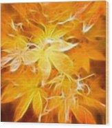 Fractal Gold 6664 Wood Print