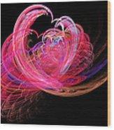 Fractal - Heart - Lets Be Friends Wood Print