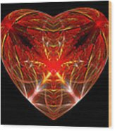 Fractal - Heart - Open Heart Wood Print