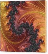 Fractal Heat - A Fractal Abstract Wood Print