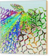 Fractal - Hummingbird Wood Print