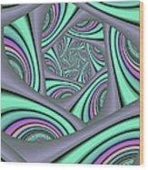 Fractal In Itself Wood Print