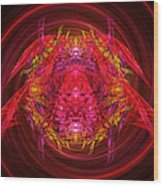 Fractal - Insect - Jeweled Scarab Wood Print