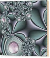 Fractal Jewellery Wood Print