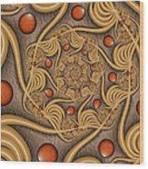 Fractal Jewelry Wood Print
