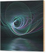 Fractal Lake Wood Print