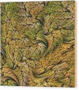 Fractal Leaf Mat-- 2 Wood Print