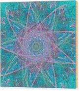 Fractal Magic Wood Print