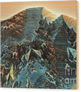 Fractal Moutain Wood Print