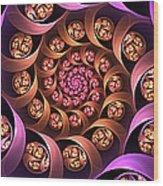 Fractal Multicolored Depth Wood Print