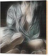 Fractal Nude 8637 Wood Print