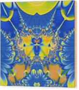 Fractal Owl Wood Print