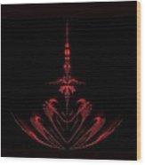 Fractal Red Wood Print