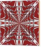 Fractal Reflections Wood Print
