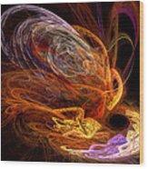 Fractal - Rise Of The Phoenix Wood Print