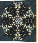 Fractal Seahorses Wood Print