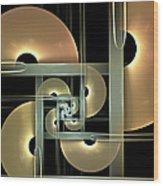 Fractal Semicircles Wood Print