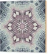 Fractal Snowflake Pattern 1 Wood Print